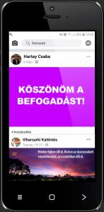 Hartay Csaba - Köszönöm a befogadást! - Viharsarki kattintós - ÜKH 2019